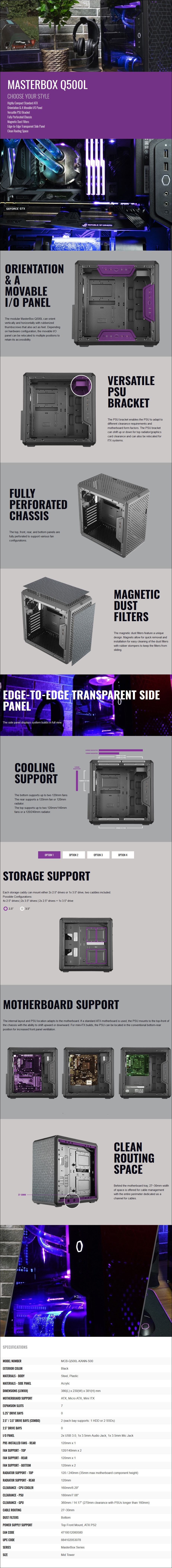 Cooler Master MasterBox Q500L Mid-Tower ATX Case - Overview 1