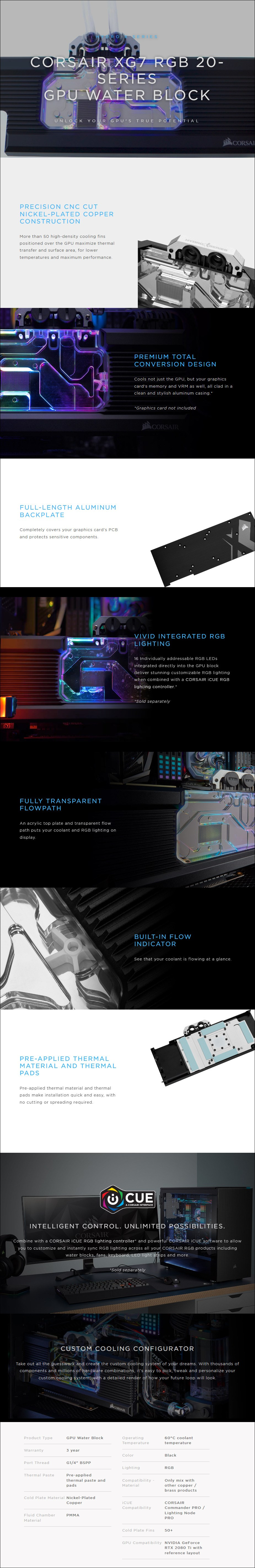 Corsair Hydro X Series XG7 RGB 2080 Ti FE GPU Water Block - Overview 1