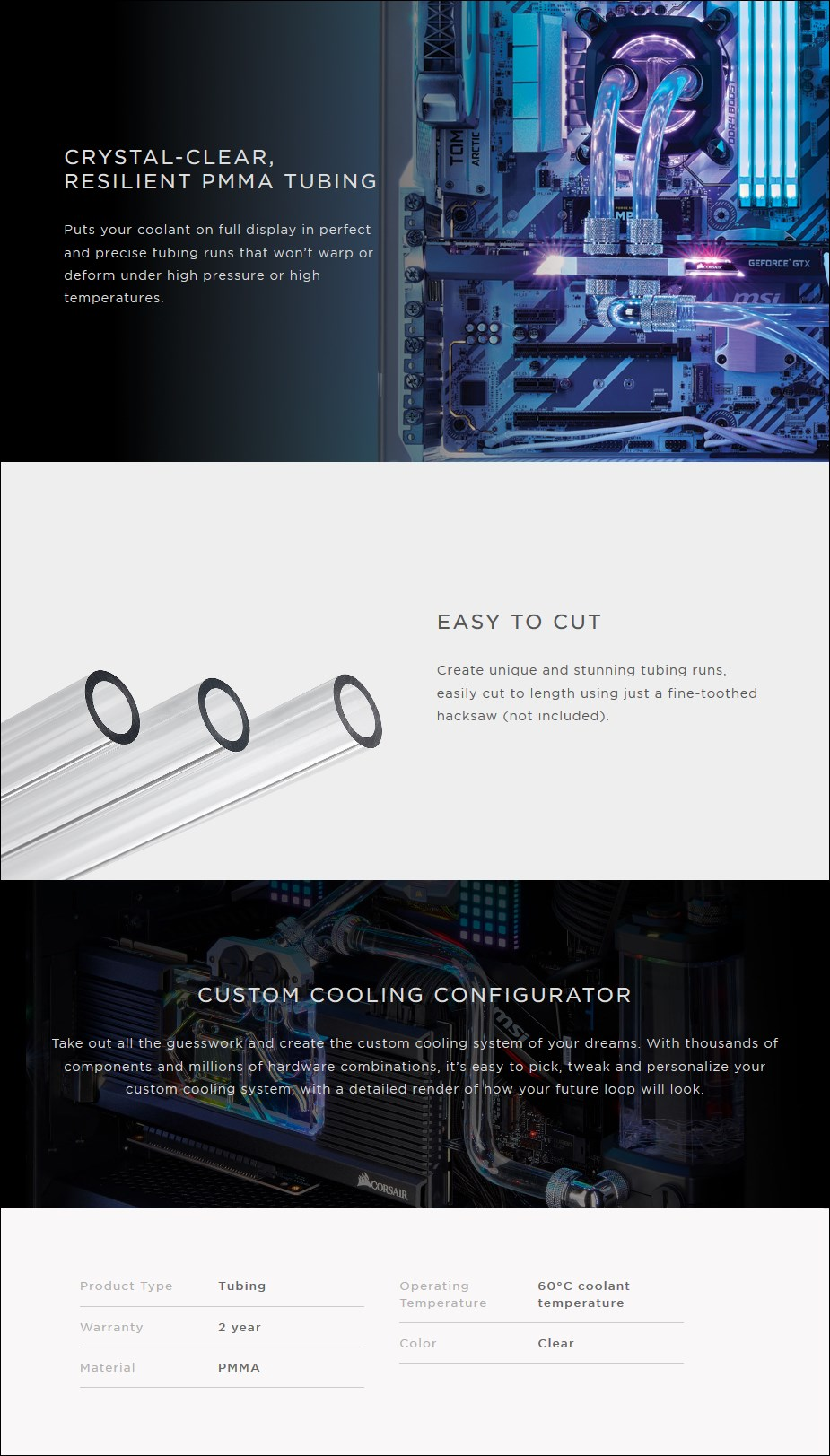 Corsair Hydro X Series XT Hardline 14mm Tubing - Overview 1