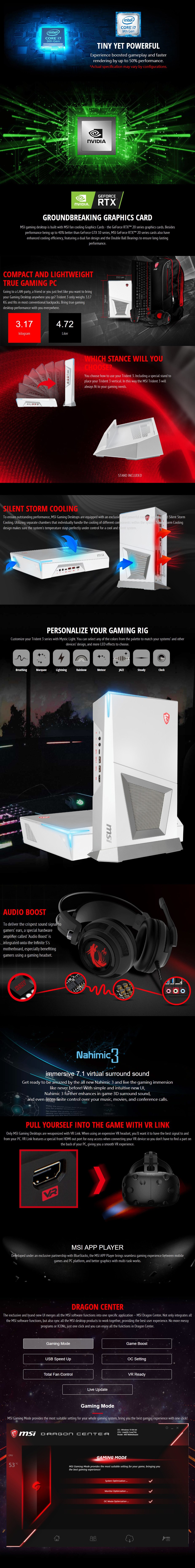 MSI Trident 3 Arctic Compact Gaming PC i7-9700F 16GB 1TB+512GB GTX1660Ti Win10H  - Overview 1