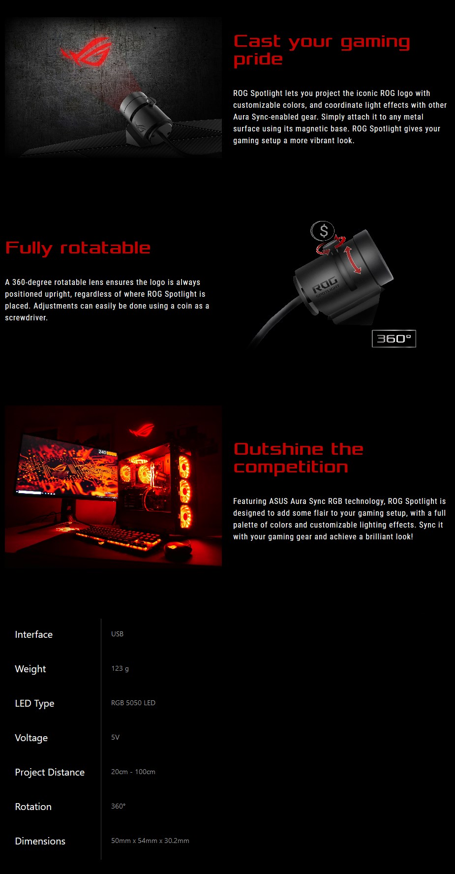 ASUS ROG Aura Sync RGB Spotlight - Overview 1