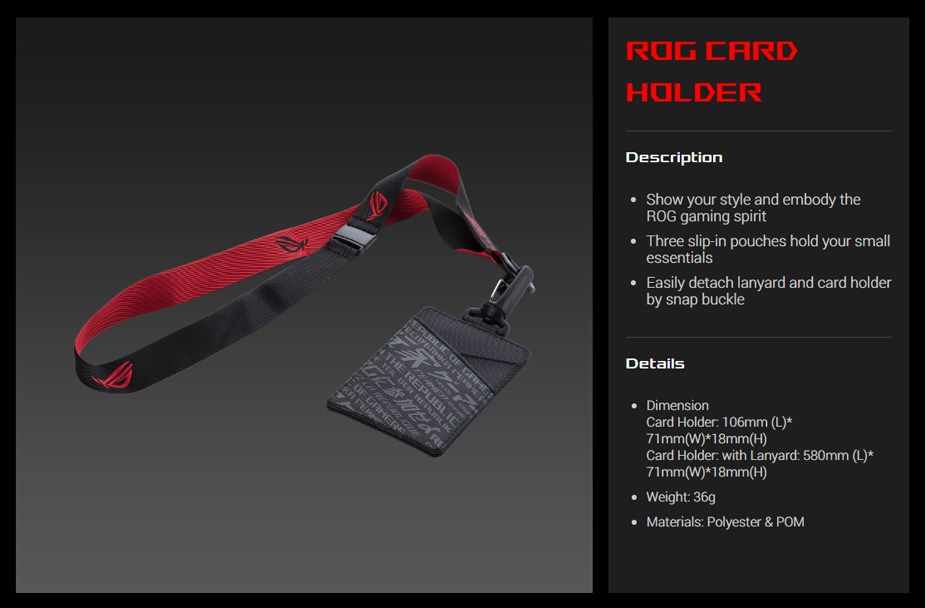 ASUS ROG Card Holder - OH100 - Overview 1