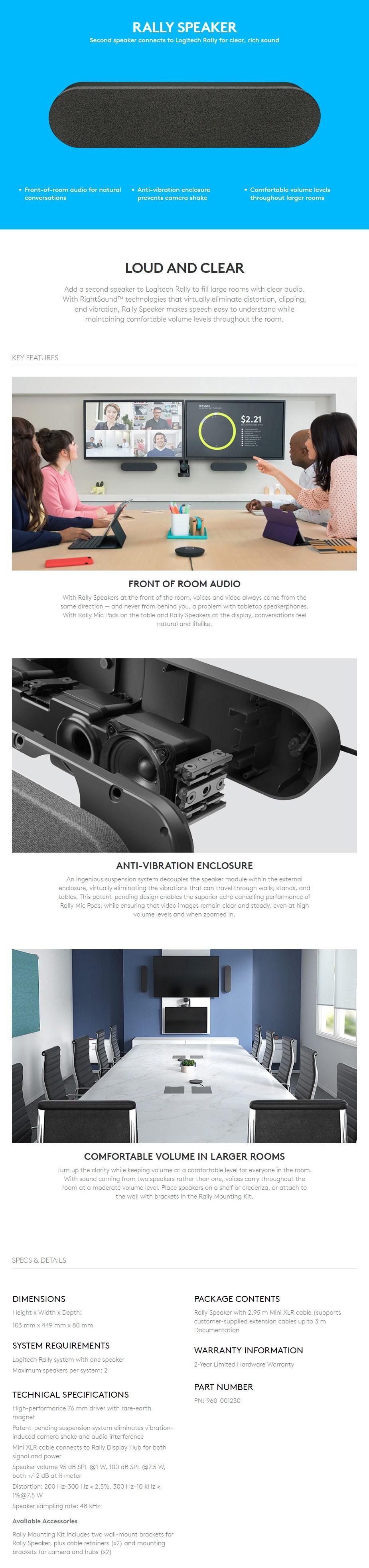 Logitech Rally Speaker - Overview 1