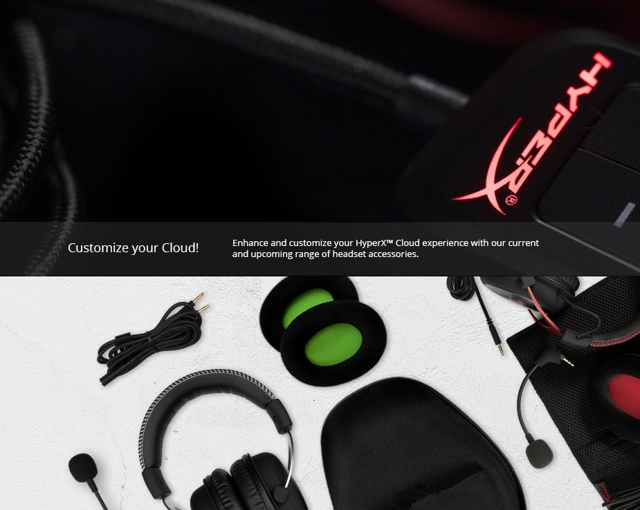 HyperX Cloud Flight 3.5mm Headphone Cable - Desktop Overview 1