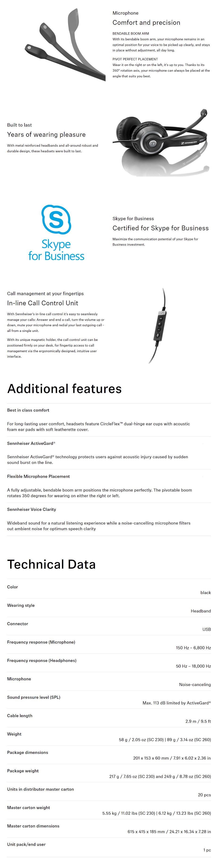 Sennheiser SC 260 USB MS II Headset - Overview 1