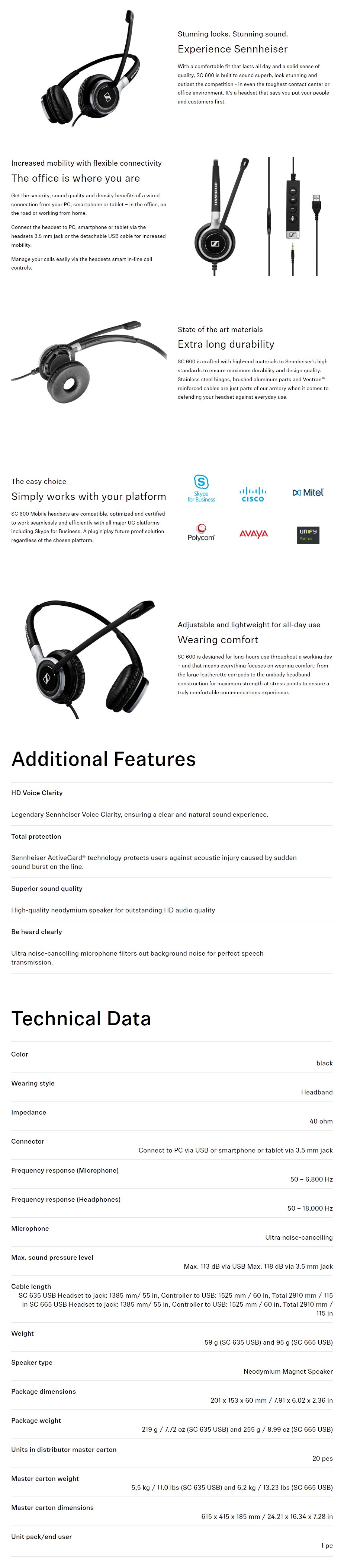 Sennheiser SC 665 USB Headset - Overview 1