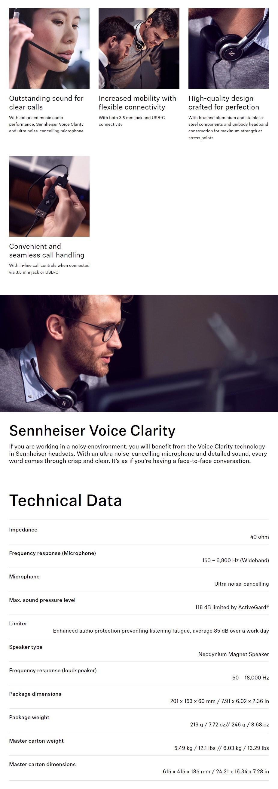 Sennheiser SC 665 USB-C Headset - Overview 1