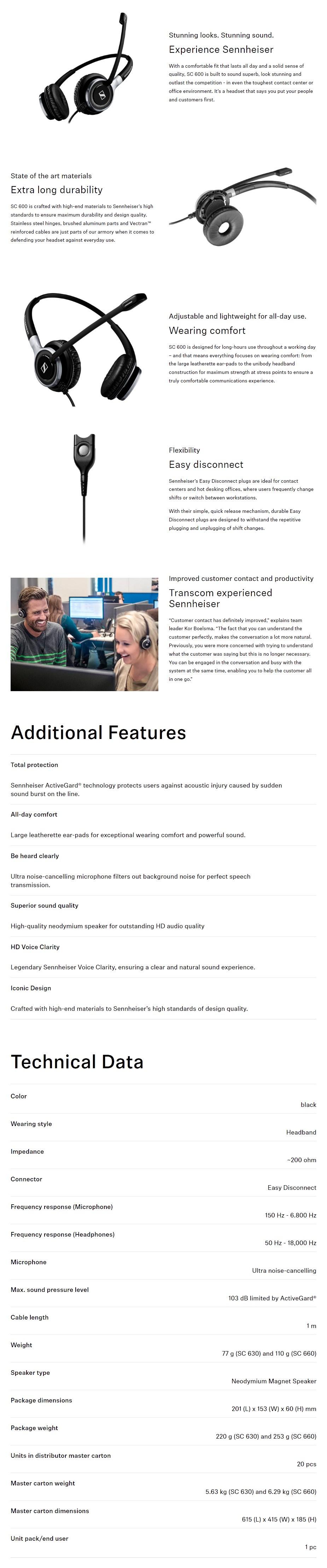 Sennheiser SC 630 IP Headset - Overview 1