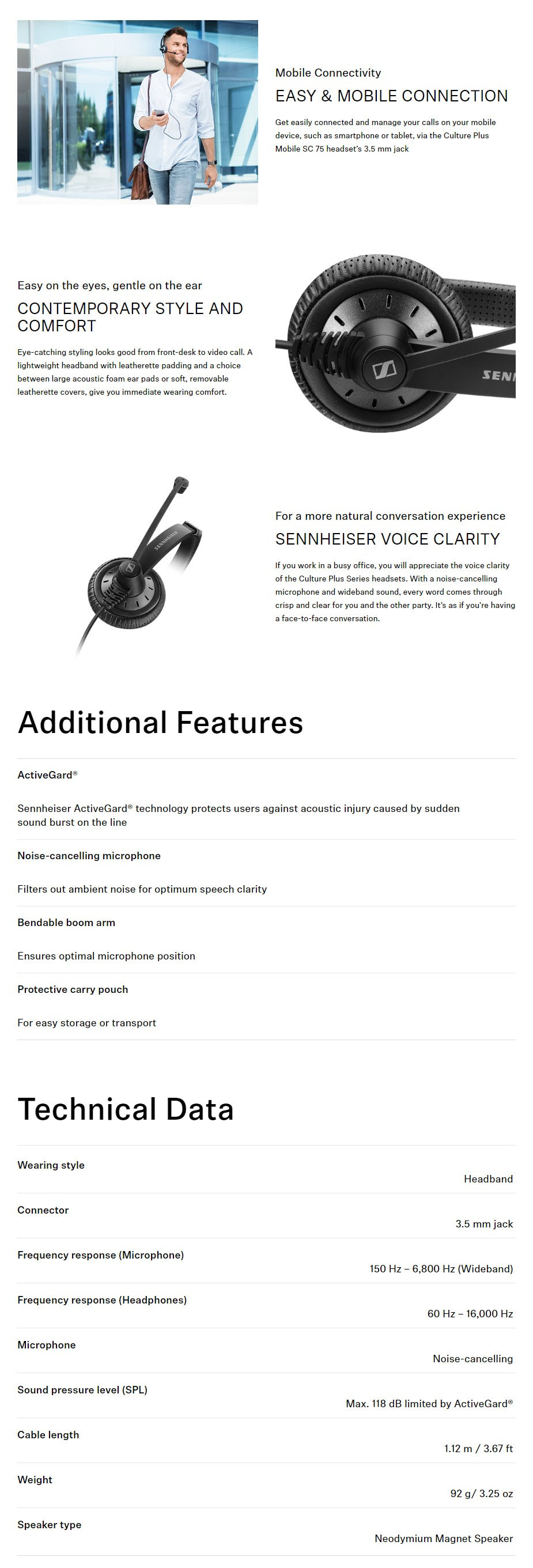 Sennheiser SC 75 Headset - Overview 1
