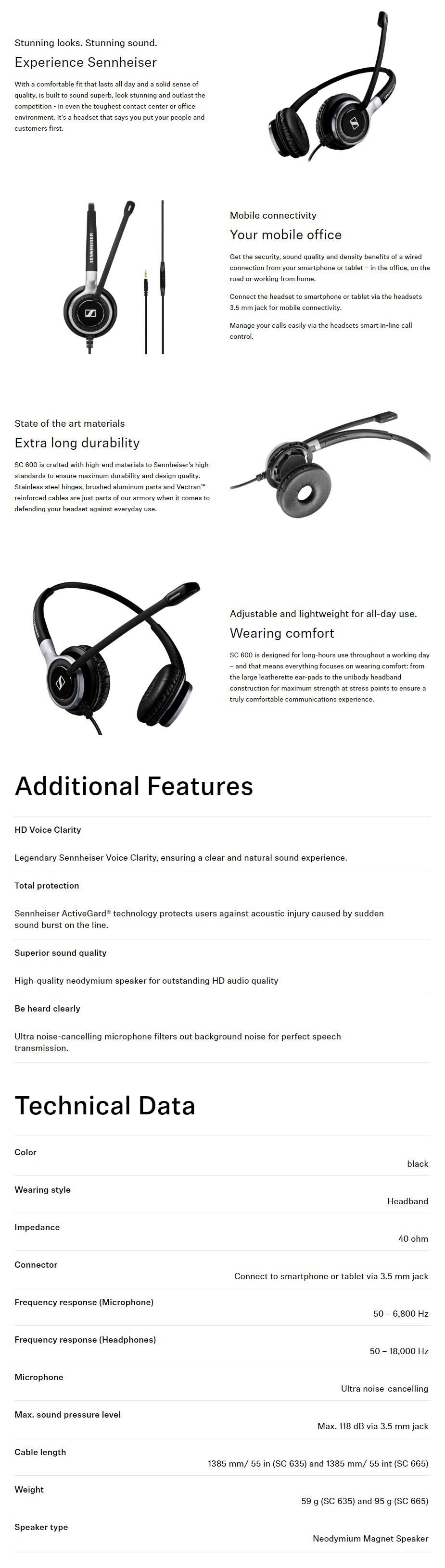 Sennheiser SC 665 Headset - Overview 1