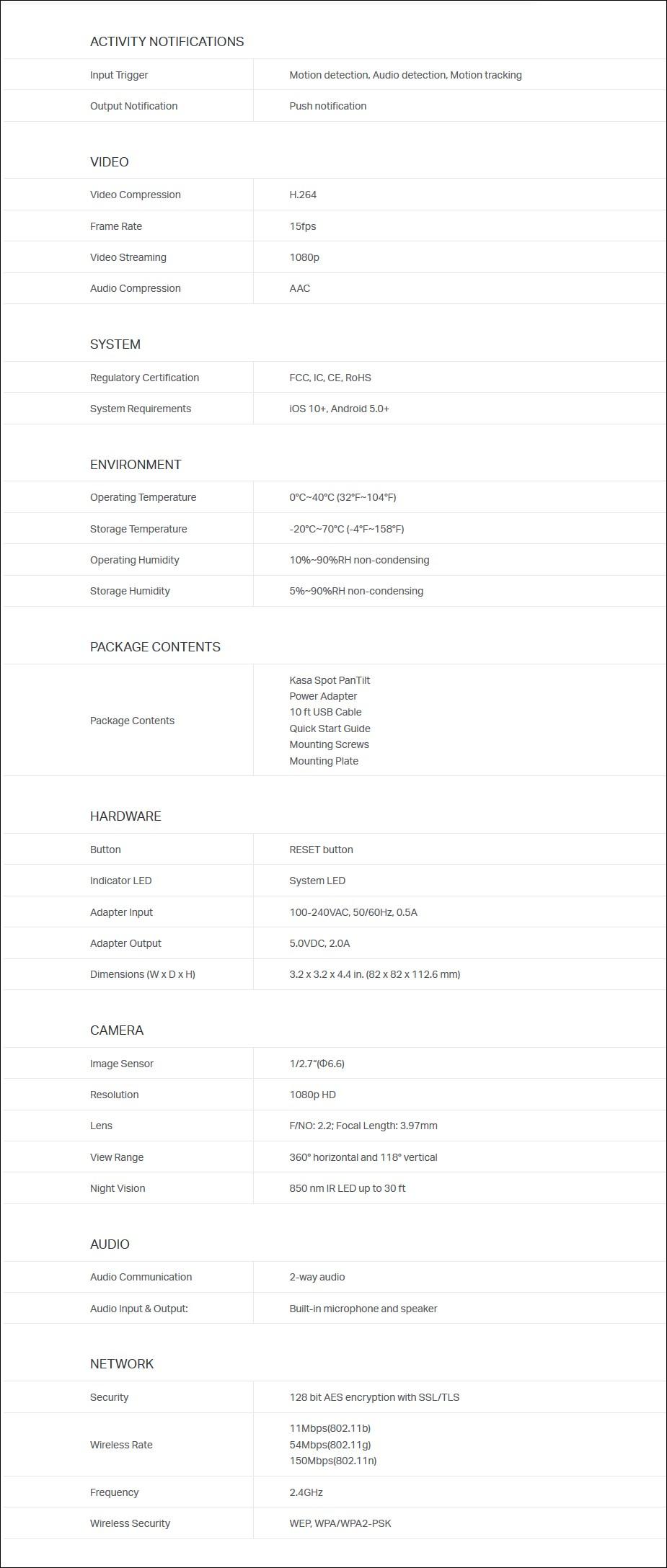 TP-Link KC110 Kasa Spot Pan Tilt 1080p Indoor Security Camera - Overview 2