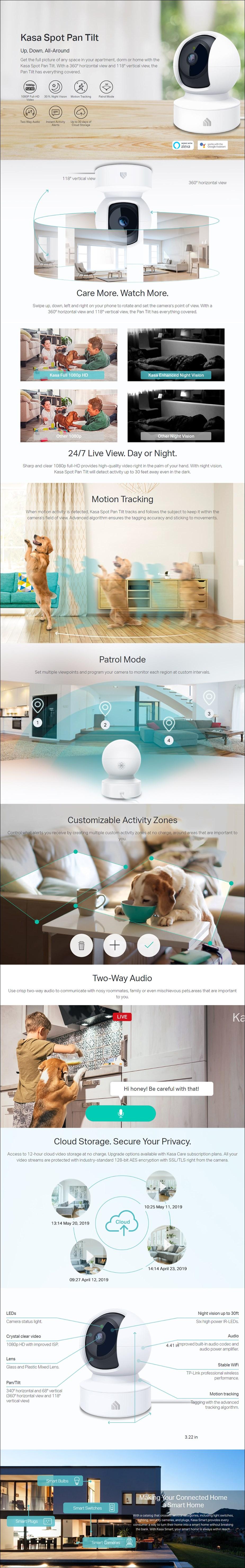TP-Link KC110 Kasa Spot Pan Tilt 1080p Indoor Security Camera - Overview 1