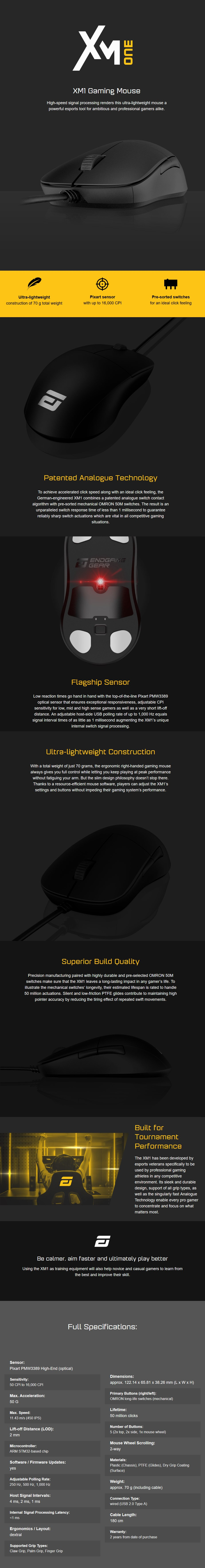 Endgame Gear XM1 Optical Gaming Mouse - Overview 1