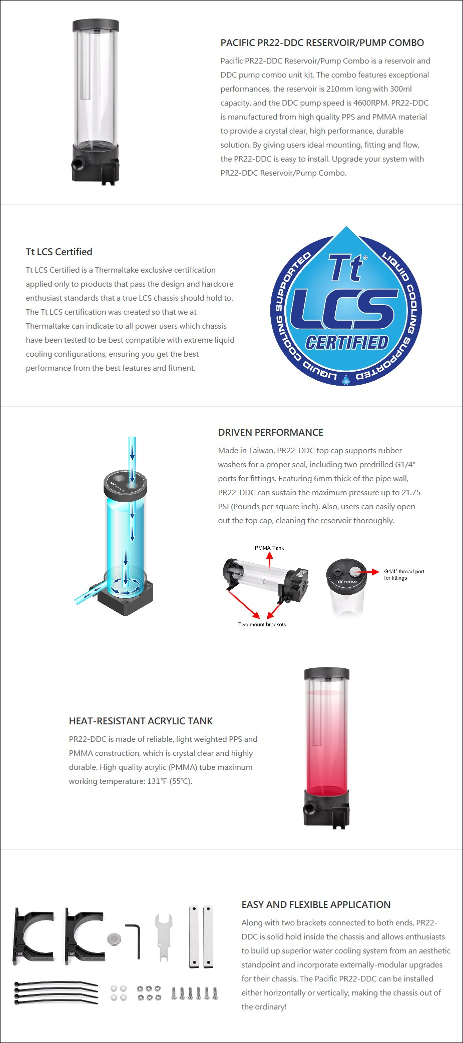 Thermaltake Pacific PR22-DDC Reservoir and Pump Combo - Overview 1