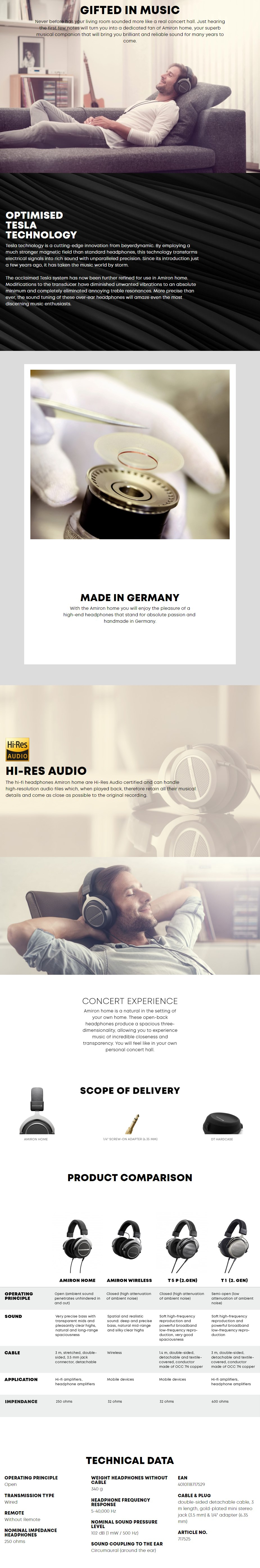Beyerdynamic Amiron Home Open-Back Headphones - Overview 1