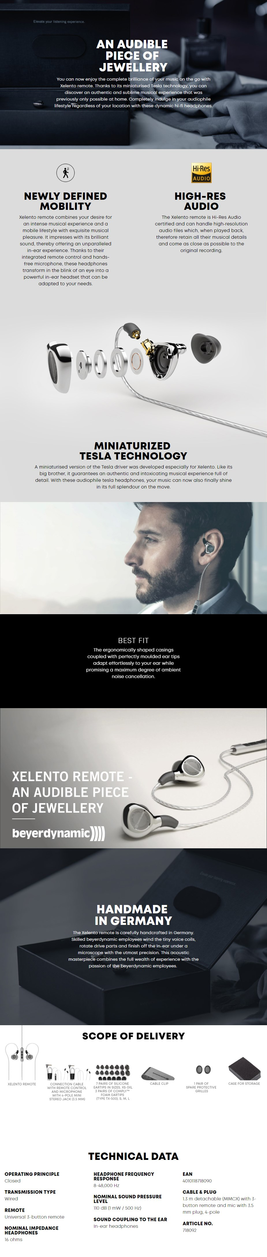 Beyerdynamic Xelento Remote In-Ear Headphones - Overview 1