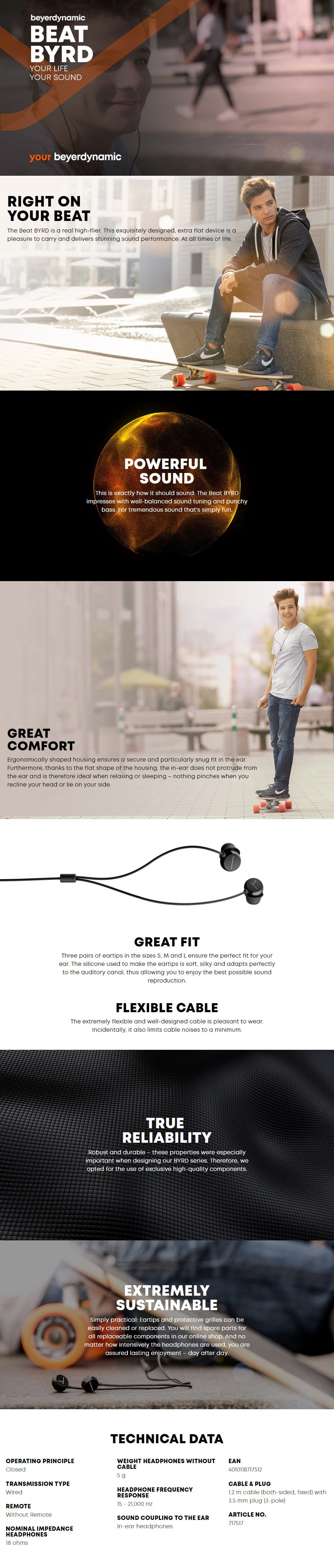 Beyerdynamic Beat Byrd In-Ear Headphones - Overview 1