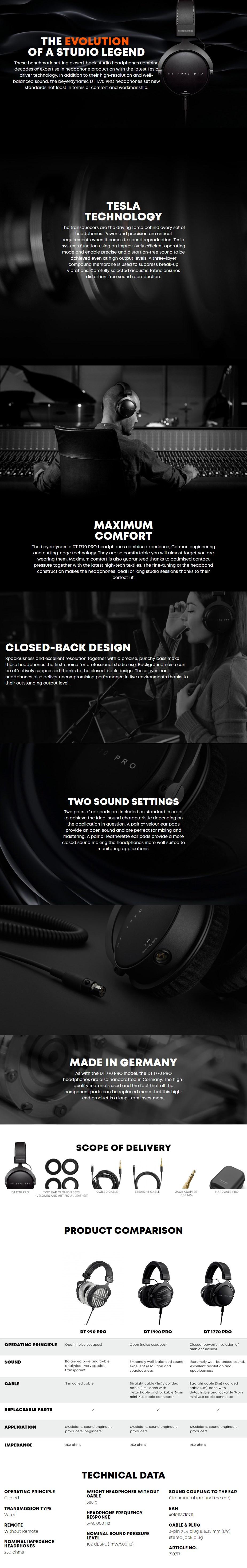 Beyerdynamic DT 1770 Pro Closed-Back Studio Headphones - Overview 1