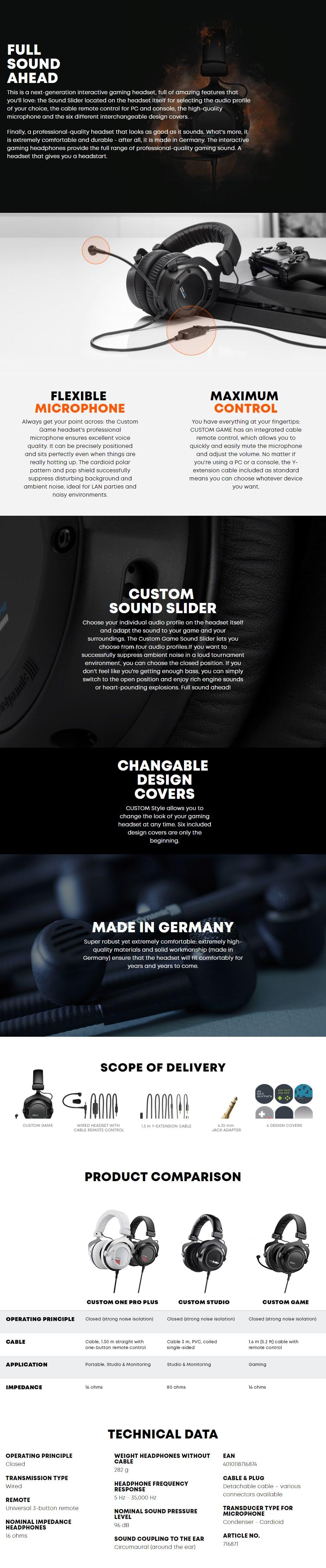 Beyerdynamic Custom Game Closed-Back Gaming Headset - Overview 1