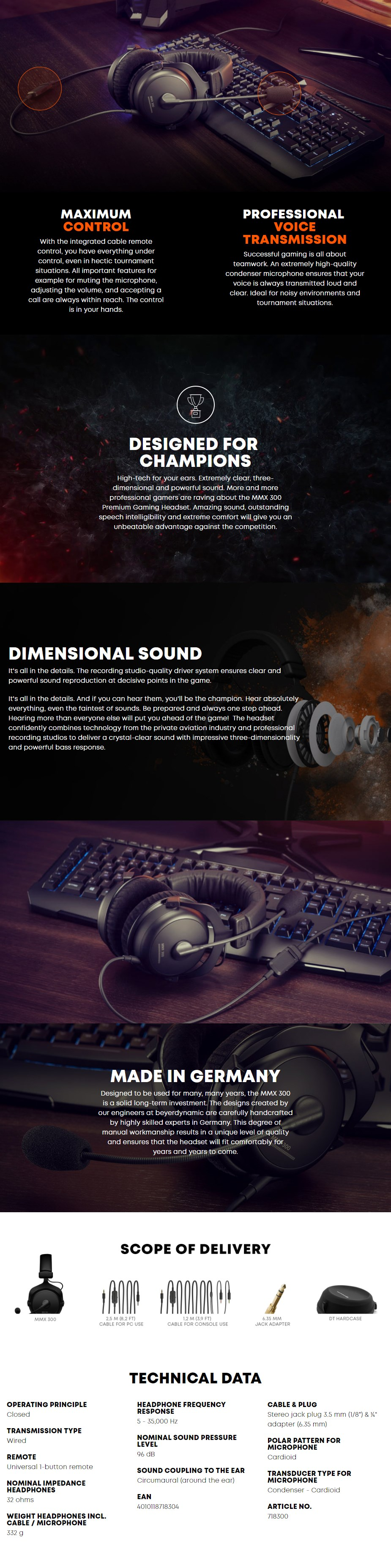 Beyerdynamic MMX 300 Premium Gaming Closed-Back Headset - 2nd Generation - Overview 1