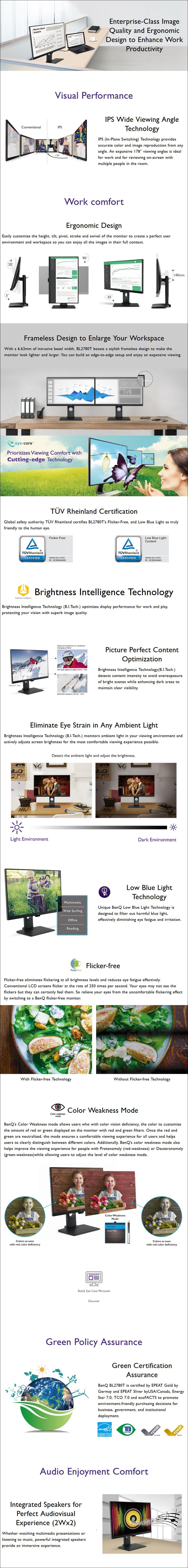 "BenQ BL2480T 23.8"" Full HD Ergonomic IPS Business Monitor - Overview 1"