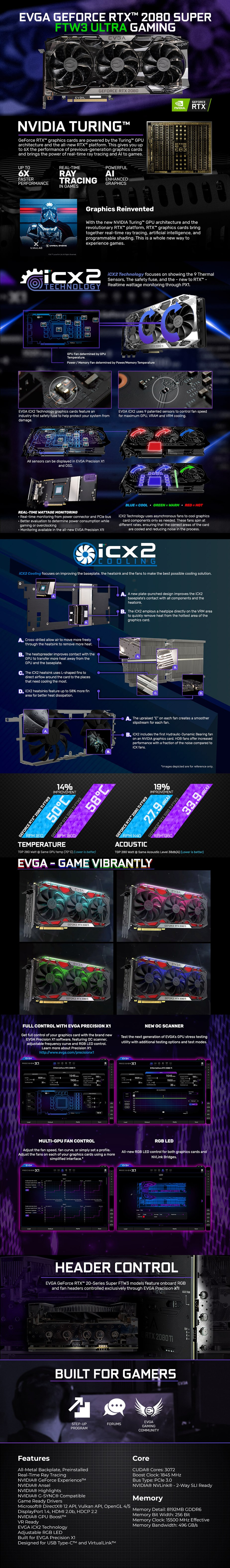 EVGA GeForce RTX 2080 SUPER FTW3 ULTRA GAMING 8GB Video Card - Overview 1