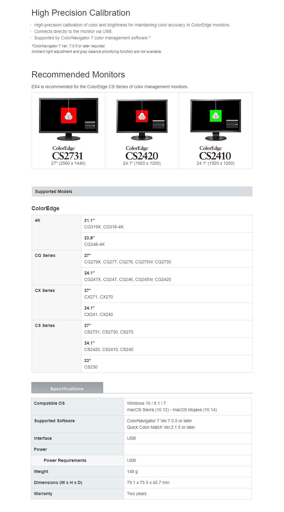 Eizo EX4 Calibration Sensor for ColorEdge Monitors - Overview 1