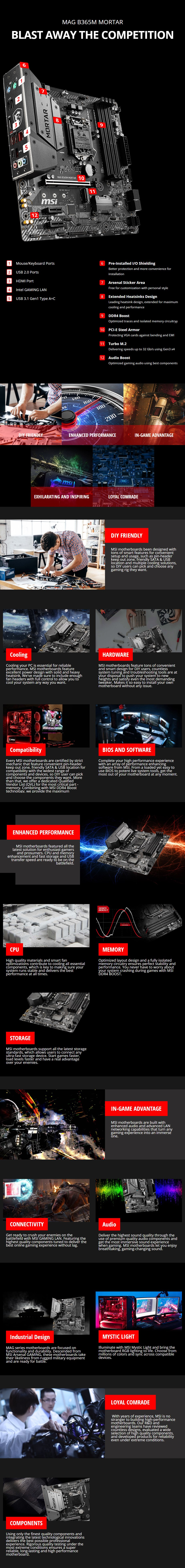 MSI MAG B365M MORTAR LGA 1151 Micro-ATX Motherboard - Overview 1