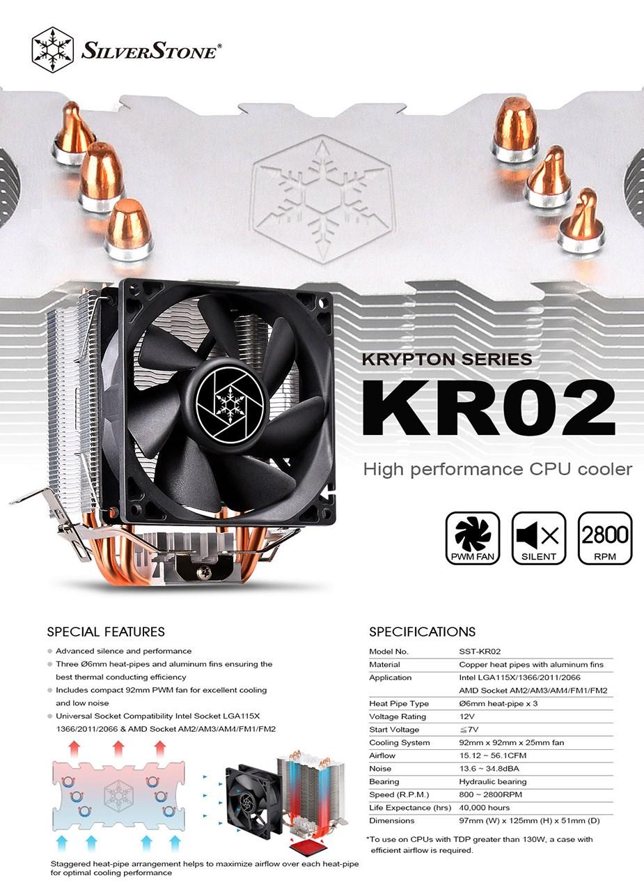 SilverStone Krypton Series KR02 CPU Cooler - Overview 1