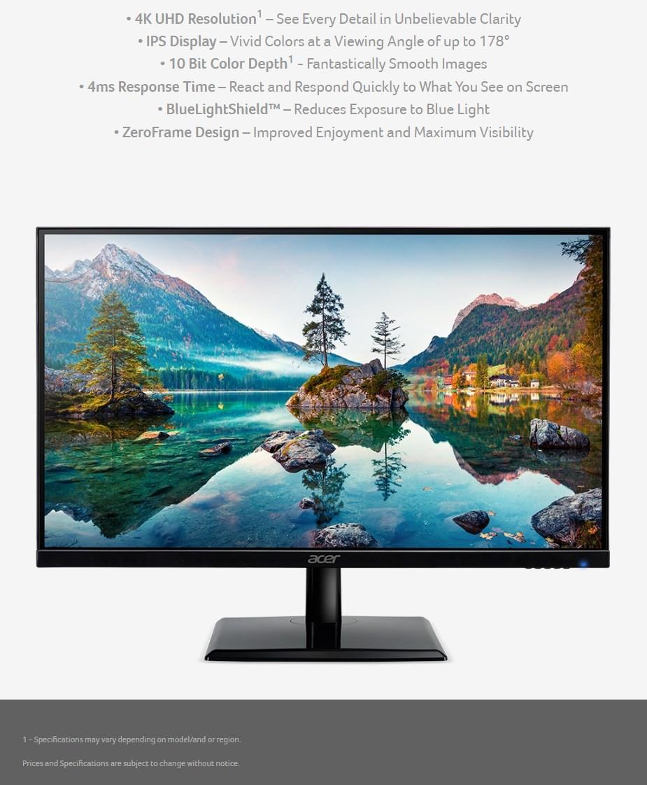 """Acer EK241QK 23.8"""" 4K UHD IPS Monitor - Overview 1"""
