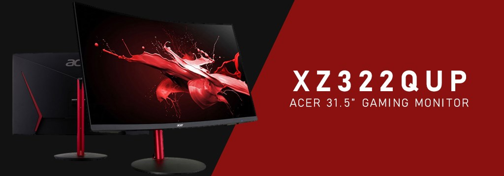 "Acer XZ322QUP 31.5"" 144Hz QHD 1ms HDR10 FreeSync Curved Gaming Monitor - Overview 1"