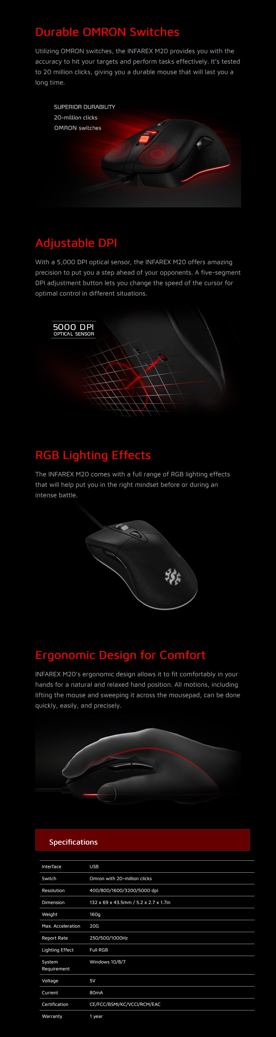 ADATA INFAREX M20 Optical Gaming Mouse - Overview 1
