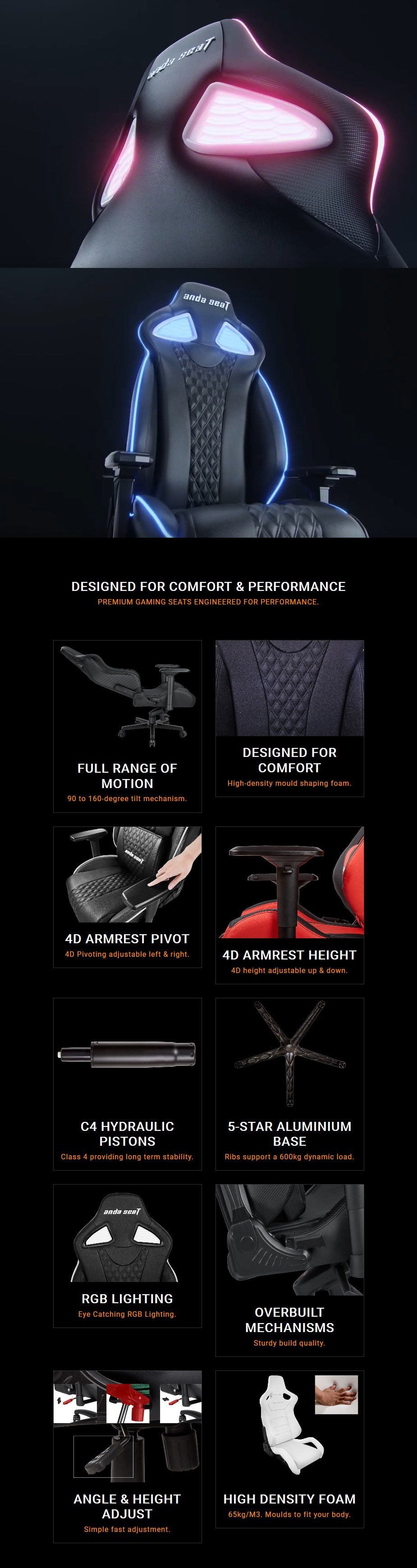 Anda Seat AD17 Special Edition RGB Gaming Chair - Overview 1