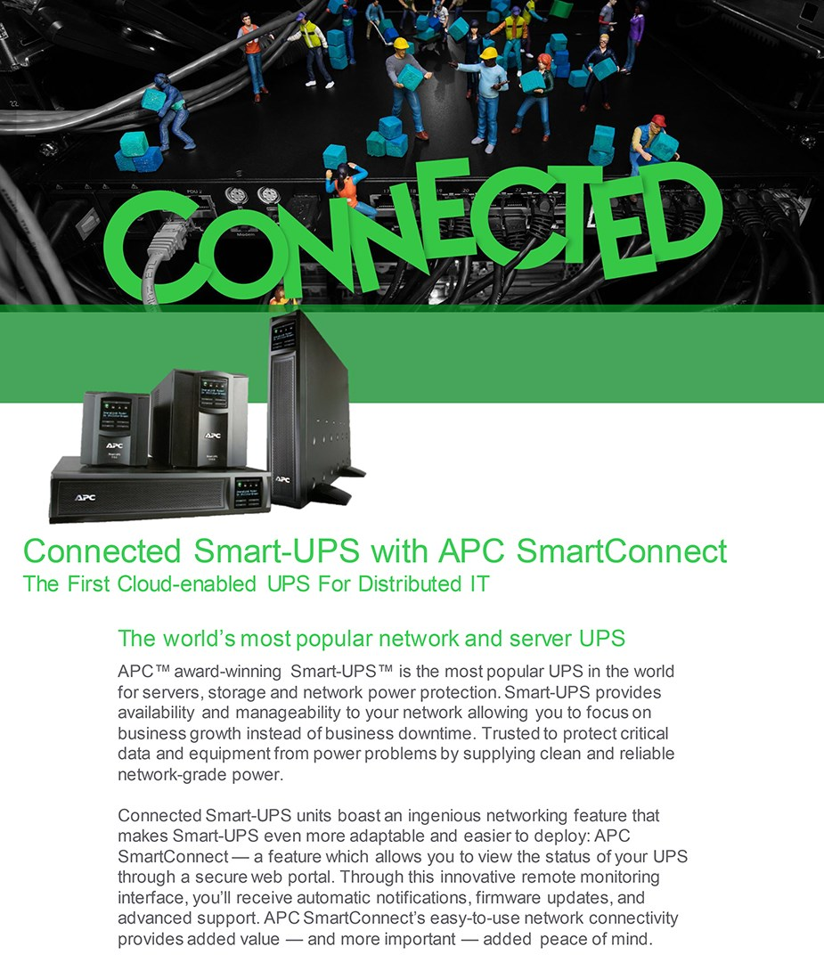 APC SMT750IC Smart-UPS 750VA/500W Sinewave UPS with SmartConnect - Overview 1