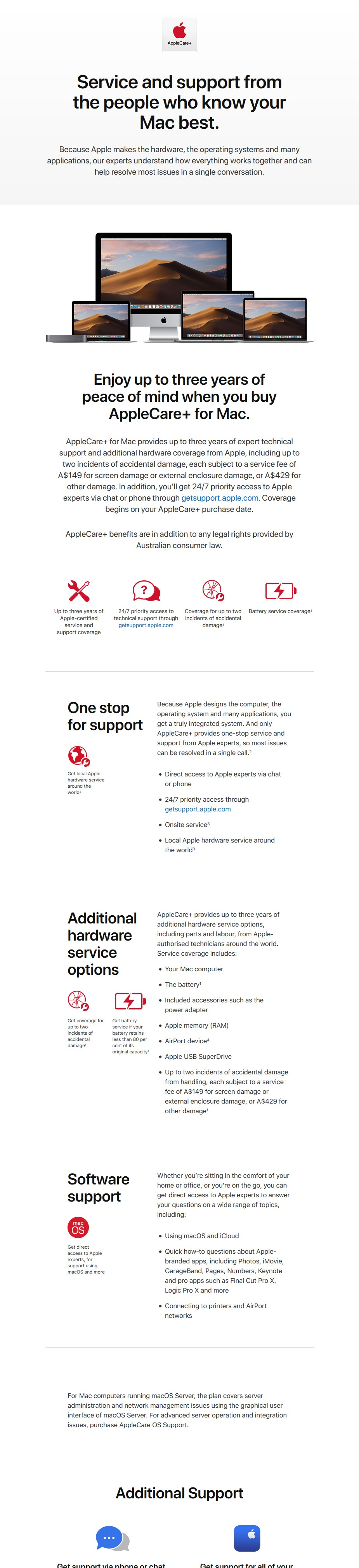 AppleCare+ for MacBook and MacBook Air - Desktop Overview