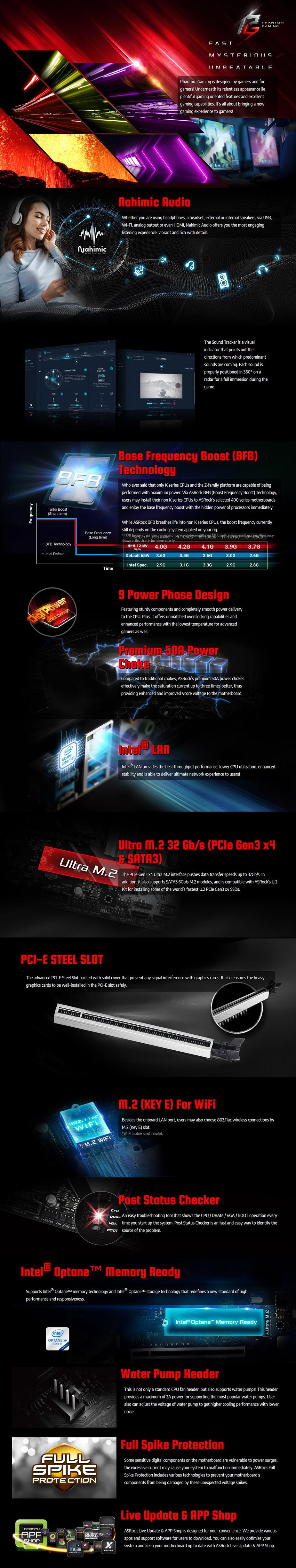 ASRock B460 Phantom Gaming 4 LGA 1200 ATX Motherboard - Overview 1