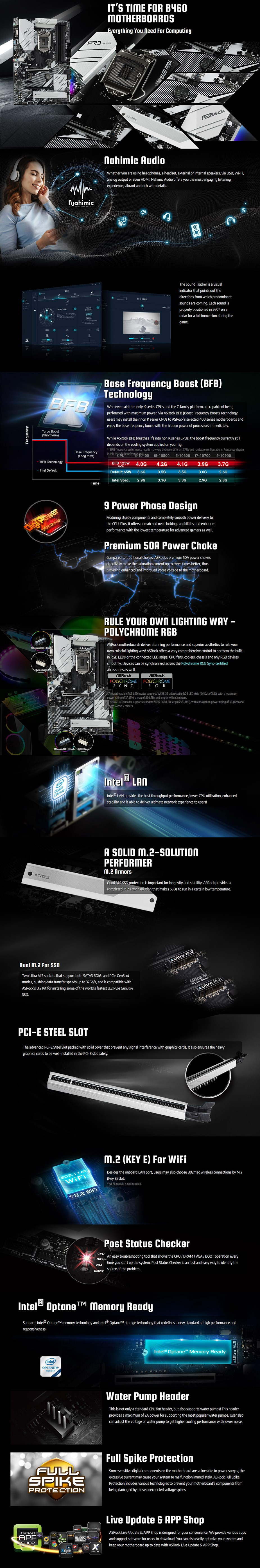 ASRock B460 Pro4 LGA 1200 ATX Motherboard - Overview 1