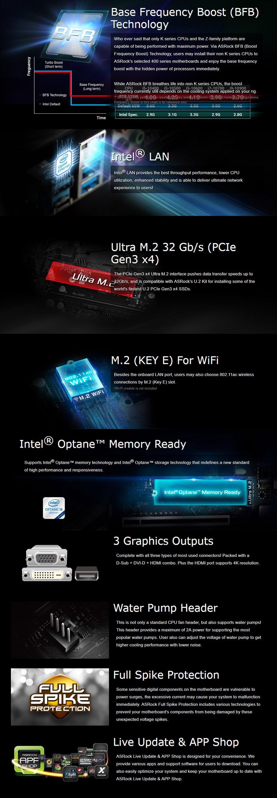 ASRock B460M LGA 1200 Micro-ATX HDV Motherboard - Overview 1