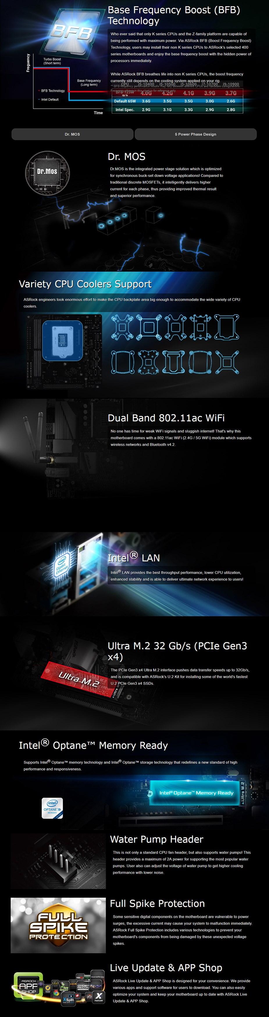 ASRock B460M-ITX/ac LGA 1200 Micro-ATX Motherboard - Overview 1