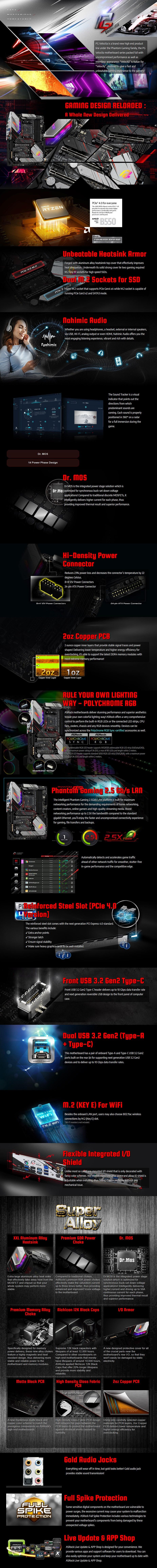 ASRock B550 PG Velocita AM4 ATX Motherboard - Overview 1