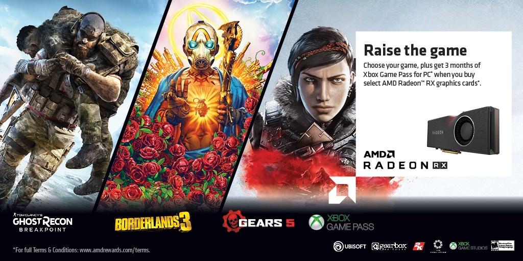 AMD Radeon Game Bundles Q4 2019