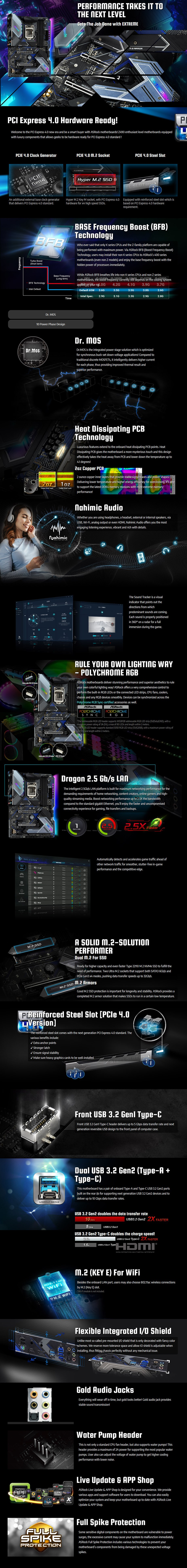 ASRock Z490 Extreme4 LGA 1200 ATX Motherboard - Overview 1