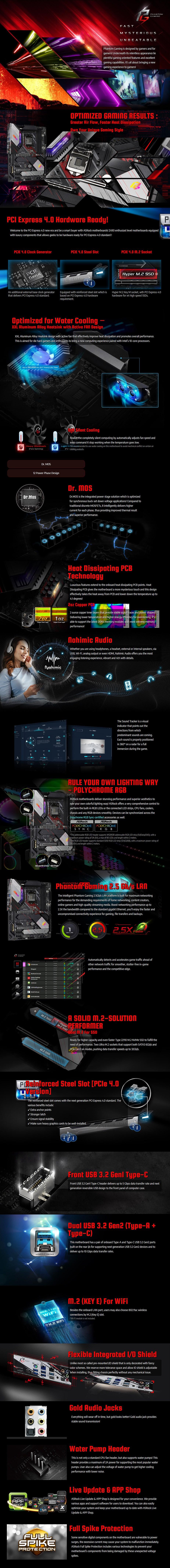 ASRock Z490 PG Velocita LGA 1200 ATX Motherboard - Overview 1