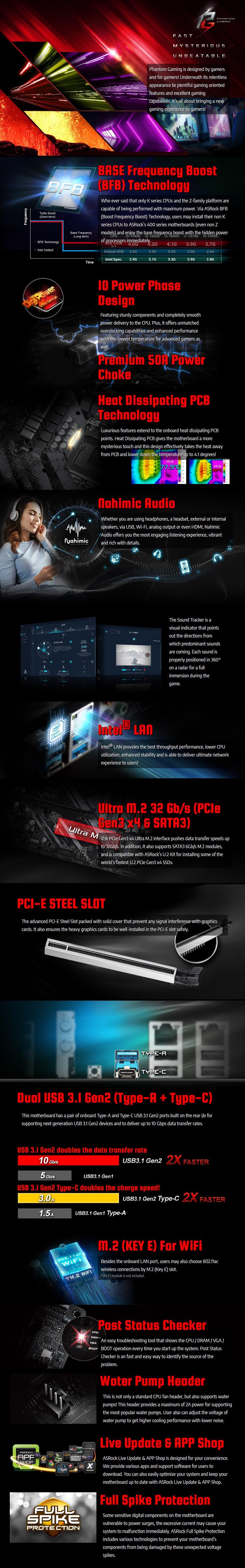 ASRock Z490 Phantom Gaming 4 LGA 1200 ATX Motherboard - Overview 1
