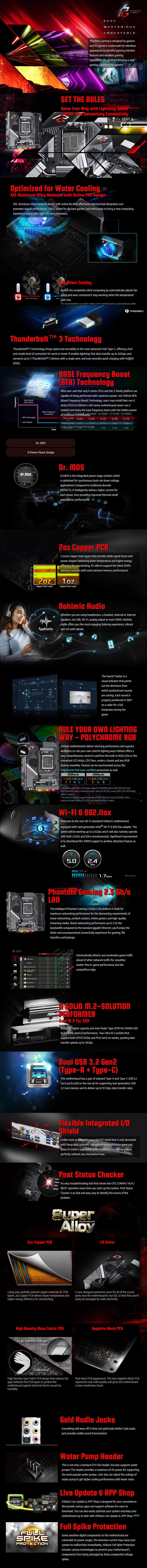 ASRock Z490 Phantom Gaming-ITX/TB3 LGA 1200 Mini-ITX Motherboard - Overview 1