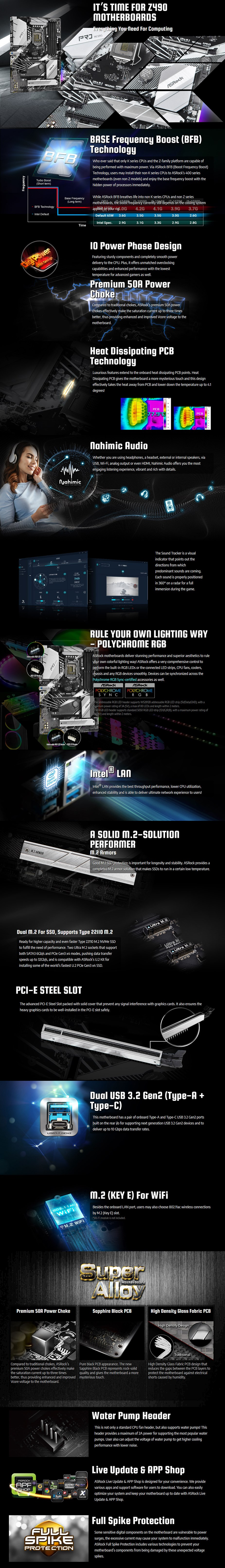 ASRock Z490 Pro4 LGA 1200 ATX Motherboard - Overview 1