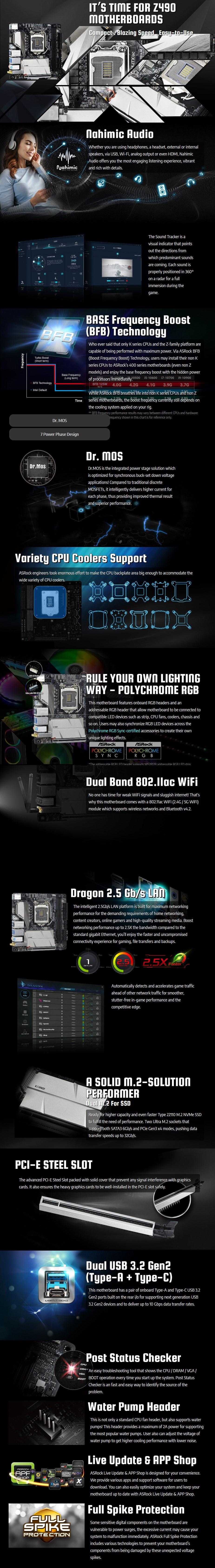 ASRock Z490M-ITX/ac LGA 1200 Mini-ITX Motherboard - Overview 1