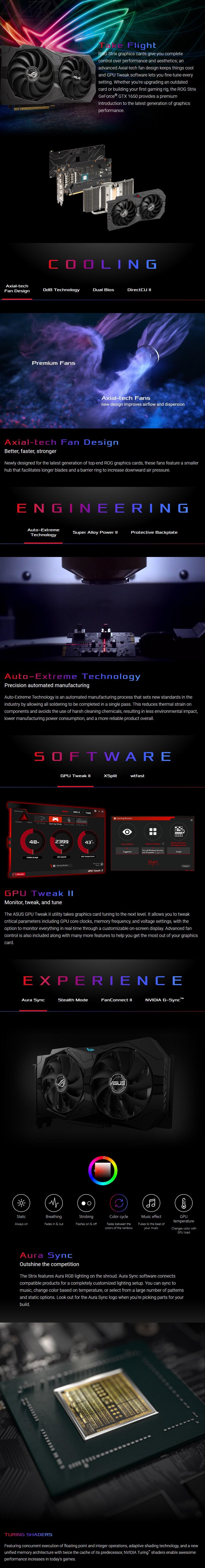 ASUS GeForce GTX 1650 ROG Strix OC 4GB GDDR6 Video Card - Overview 1