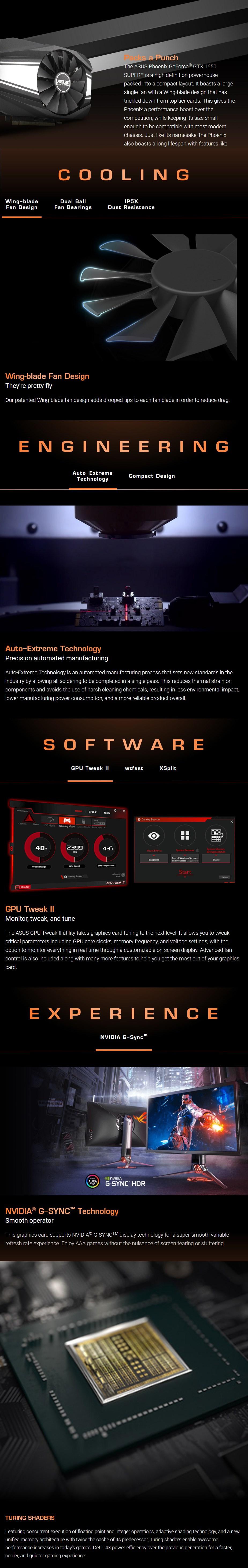 ASUS GeForce GTX 1650 SUPER Phoenix 4GB Video Card - Overview 1