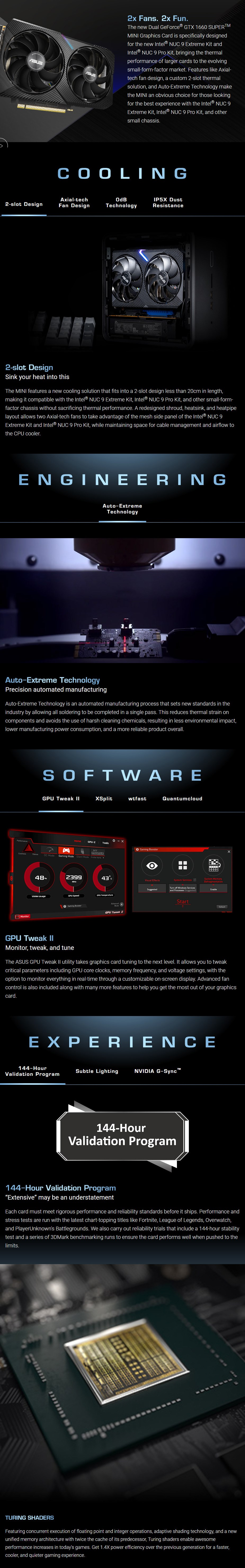 ASUS GeForce GTX 1660 SUPER Dual Mini OC 6GB Video Card - Overview 1